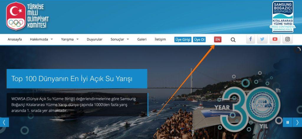 сайт турецкого олимпийского комитета