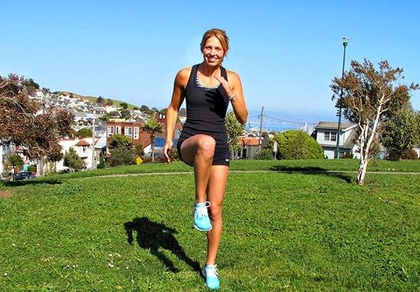 Бег с высоким подниманием бедра, чтобы похудеть