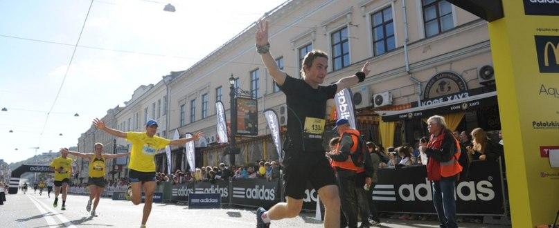 Финиш в 2014 на киевском полумарафоне