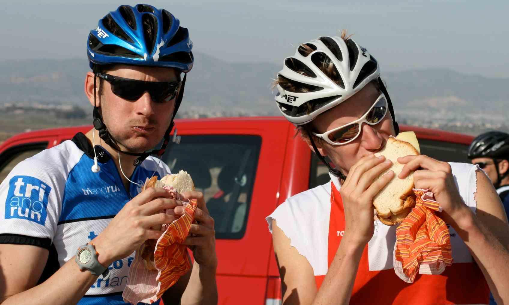 Еда после гонки IRONMAN
