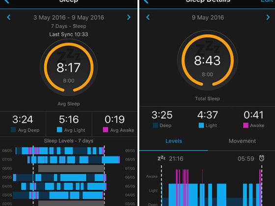 Sleep mode with Garmin