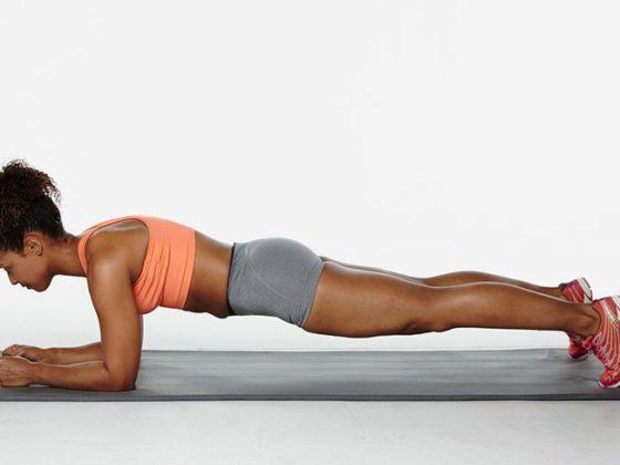 силовое упражнения для бегуна - планка
