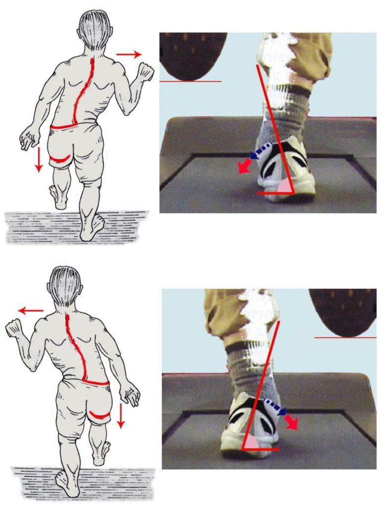 движения корпуса гиперпронатора при беге