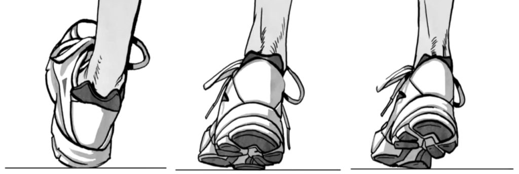Движение стопы при гиперпронации