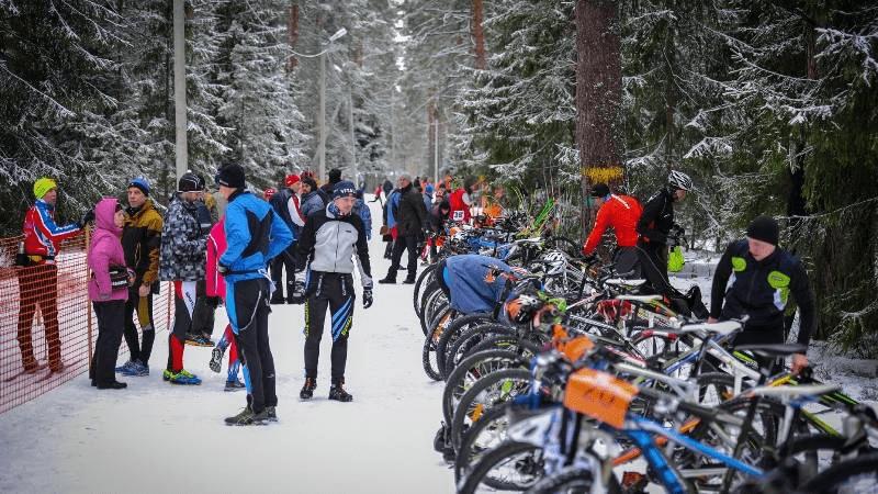 этап зимнего триатлона