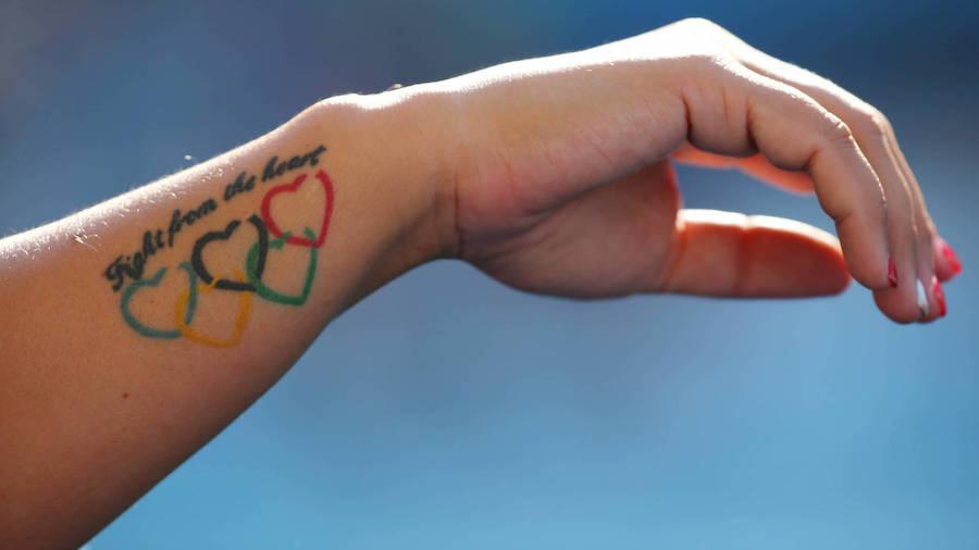 Тату. Рука. Олимпийские кольца2-min