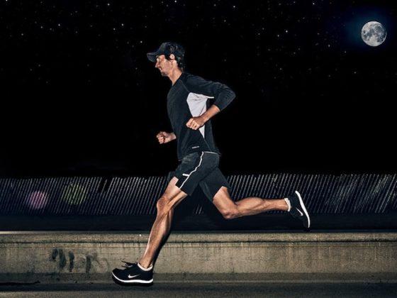 бег ночью