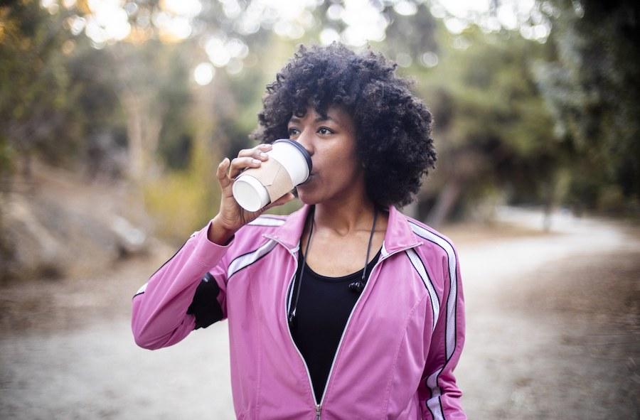 кофе на пробежке