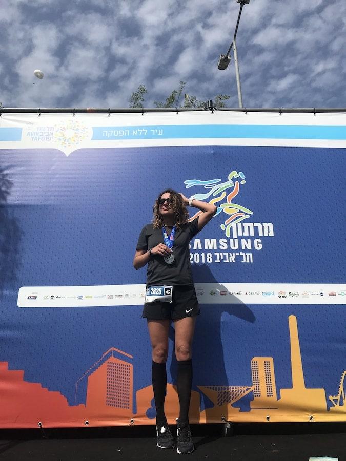 Таня Гринева. Марафон в Тель-Авиве